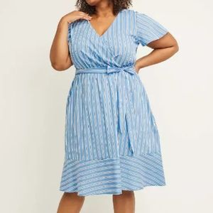 NWT Lane Bryant fit and flare dress, faux wrap